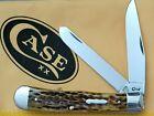 CASE XX Knife Trapper 55220 Peach Seed Antique Bone NEW IN BOX NASHVILLE NSPS