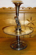 Odd Weird Old Simpson Hall Miller Silverplate Epergne Brother Sister Anniversary