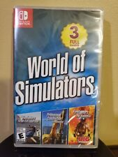 World of Simulators Nintendo Switch 3 Full Games New Sealed Video Game Rated E