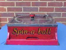 VINTAGE 1930's FAIRGROUND FUNFAIR CIRCUS SPIN A BALL GAME MACHINE