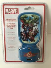 MARVEL AVENGERS Night Light USB Charger Combo NIP NEW