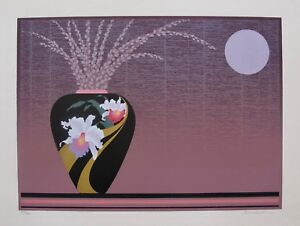 "PAUL LU ""FLOWER VASE"" Hand Signed Limited Edition Art Lithograph"