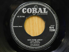 The Crickets 45 Not Fade Away / Oh, Boy ~ Caral VG to VG+