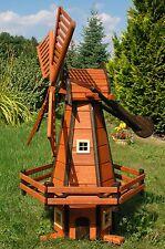 Windmühlen Holz Windmühle holländische Art 1,20 m imprägniert kugelg., Garten H1