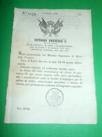 Decreti Regno Sardegna Torino Forma Bollo Straordinario 1850