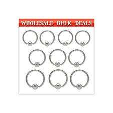 200 Surgical Steel Captive Bead Rings - Bulk12