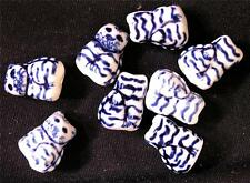 BEAD China 8 Porcelain Kitty Cat Beads WHOLESALE LOT #78