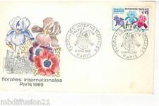 1969**ENVELOPPE-FDC 1°JOUR!!!**FLORALIES PARIS**TIMBRE Y/T 1597
