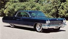 Old Print.  Black 1964 Cadillac Fleetwood Sixty Special Sedan Auto