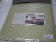 New Portico Organic Cotton OTTOMAN RIBBED Twin Coverlet 70x90 - Sprout Green NIP