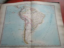 c32-1-89 Carte atlas Stieler Amérique du Sud