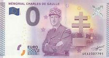 -- 2015-1  BILLET TOURISTIQUE 0 SOUVENIR  --  MEMORIAL CHARLES DE GAULLE