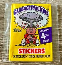 New - 1986 Series 4 Garbage Pail Kids (5) Stickers/Cards Pack (RARE/SEALED)