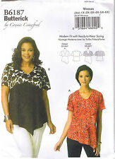 Easy Womens Blouse Top Connie Crawford Sewing Pattern XXL 1X 2X 3X 4X 5X 6X