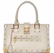 LOUIS VUITTON Authentic Suhali Le Fabuleux White leather gold Handbag collectors