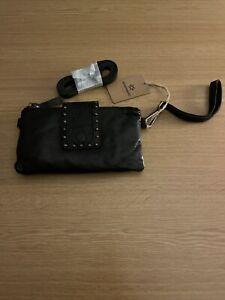 Kompanero Black Leather Flair Clutch Purse / Bag - NWT
