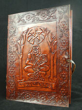 CERNUNNOS Pagan Wicca Handmade Leather Book-of-Shadows Journal - the HORNED GOD