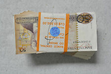 Lot of 500 1986 BRAZIL 50 Cruzado Note Fr210-a XF-AU Sequential Serial Number 12