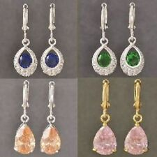 Snap Closure Crystal Alloy Drop/Dangle Costume Earrings