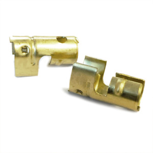 10x HT Brass push in terminal for distributor coil - 7mm 8mm Straight Crimp Type