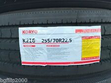 8 COMMERCIAL TRUCK TIRE 255/70R22.5 KORYO K216 PREMIUM ALL POSITION TIRES