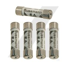 5x 5 Amp Consumer Unit Fuses Cartridge Fuse Box Lighting 5A 240V Bussmann BS1361