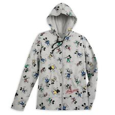 More details for disney zip hoodie for women - mickey mouse timeless - gray - medium