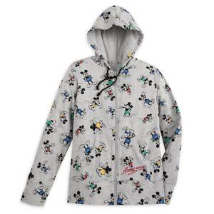 Disney Zip Hoodie for Women - Mickey Mouse Timeless - Gray - MEDIUM