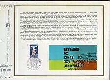 DOCUMENT CEF PREMIER JOUR  1970  TIMBRE N° 1648 LIBERATION DES CAMPS