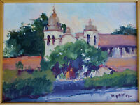 BIRGITTA KAPPE Original OIL Painting SIGNED California Plein Air CARMEL MISSION