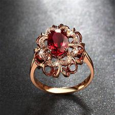 Women's Beauty 18k Rose Gold Plated Colorful Crystal Rhinestone Elegant Ring 8