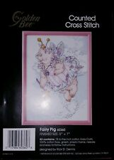 Golden Bee Counted Cross Stitch Kit Fairy Pig 60360 1988 Rick St Dennis Unused