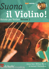 JAMES EAST - SUONA IL VIOLINO! VOL. 1 + 2 CD - metodo