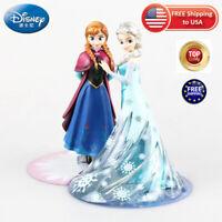 Disney Princess Frozen 2 Elsa Doll toys Set Action Figure Anna  Cake Decoration