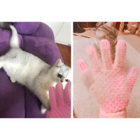 Pet Grooming Glove For Cats Dogs Suede Silicone Deshedding Brush Hair Removal OK