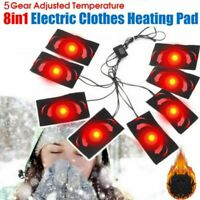 8-in-1 Electric Vest Heater Cloth Jacket USB Thermal Warm Body Warmer Heated Pad