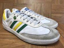 4035532aa69 EUC🔥 Adidas Samba Interruptor Brazil Verde Amarela World Cup White Leather  10.5