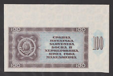 YUGOSLAVIA 100 Dinara 1950  P67V  PROOF -TRIAL PRINT OF REVERSE- PROBABLY UNIQUE