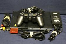 Sony Playstation 2 Ps2 Console Slim Black Scph-75001 with Controller & Games C3