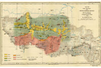 Everest Region Geology; Antique Map by Heron, 1921