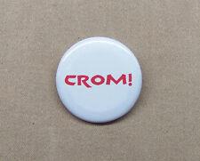 "Conan the Barbarian CROM! Button 1.25"" Arnold Schwarzenegger Howard Oath Curse"