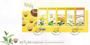 Tea Of Taiwan 2012 Plant Flora Leaf Flower Drink (miniature FDC)