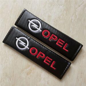 Car Safety Seat Belt 3D Embroidery For OPEL Logo Carbon Fiber Shoulder Pad Cover