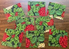8 Scrappy Precuts - Christmas Flowers - Sewing Quilting 100% Cotton Fabric
