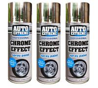 3 x Auto Chrome Foil Mirror Metallic Effect Auto Spray Paint 400ml Car Aerosol