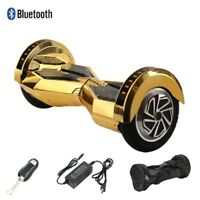 hoover board Chrome Gold 2 Wheel Electric Scooter UL approved LED bluetooth