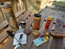 JOB LOT Vintage Motorcycle Repair Kit Tins - Dunlop & Goodyear Tyre repair tins