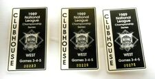 RARE 3 Lot of 1989 NLCS Clubhouse Pass Badges San Francisco Giants Chicago Cubs