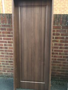 Internal Solid Wood door with frame FD30 Fire Rated.