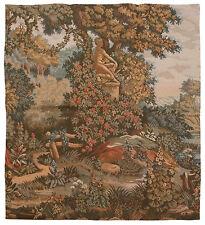"""RRA 38"""" x 38"""" Statue in the Garden Tapestry Gobelin 5"""